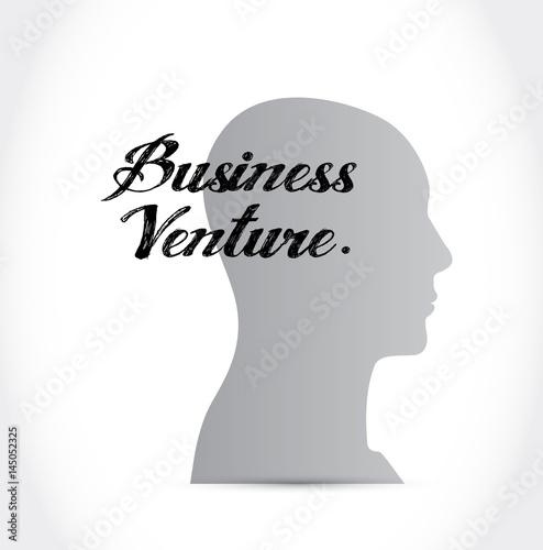 business venture mind sign concept Poster