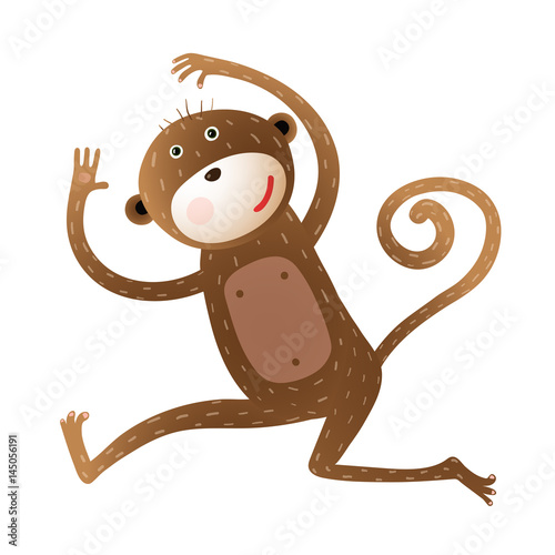 Fototapeta Funny Monkey animal cartoon