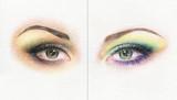 make up. eye. fashion illustration.