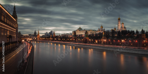 Moscow Kremlin, Moscow river, Russia
