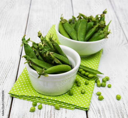green peas on a table