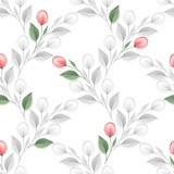 Spring flowers. Hand drawn watercolor floral seamless pattern