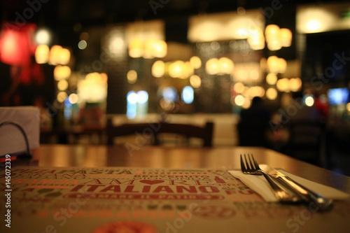 tableware, food, Italian style restaurant background - 145072339