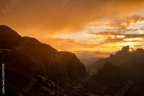 Sonnenuntergang am Dachstein, Austria Poster