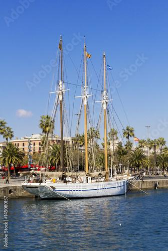 Three-masted sailboat Poster