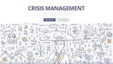 Crisis Management Doodle Concept - 145084569
