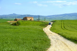 Countryside landscape around Pienza Tuscany