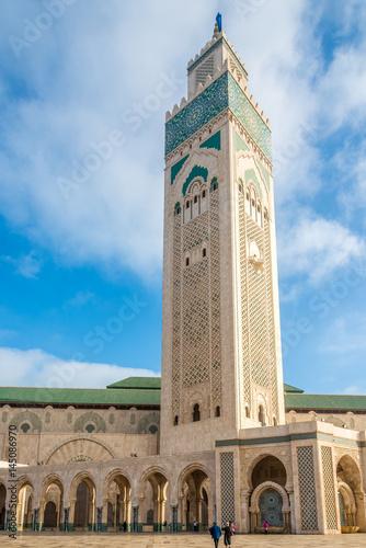 Minaret of Mosque Hasan II. in Casablanca - Morocco Poster