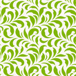 Seamless pattern with green leaves. Monochrome spring background. Vector illustration