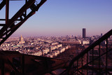 Paris View from Eiffel Tower to Tour Montparnasse and Les Invalides