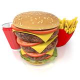 Oversized burger menu
