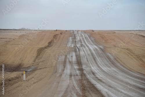 Namibia Blick auf Salzstraße am Atlantik Poster