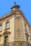 Stone facade on classical building. Belgrade, Serbia - 145100172