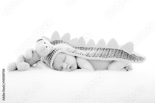 baby boy in a dragon fancy dress  Poster