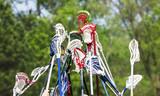 Lacrosse sticks held up together in team spirit - 145116301