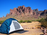 Camping at the Lost Dutchman State park. Tonto National Forest, Arizona