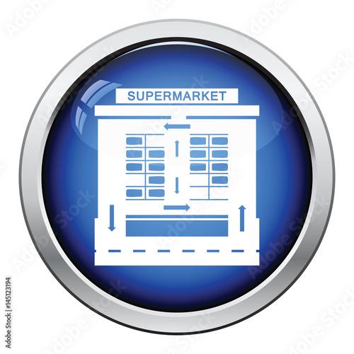 Supermarket parking square icon