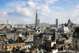 Skyline view of Brussels city in Belgium