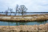 Water landscape on the outskirts of Komsomolsk, Ivanovo oblast, Russia.