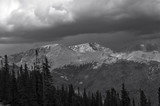 Storm clouds over Mt Ypsilon in Mummy Range of Colorado