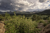 Storm clouds over Long's Peak in Front Range of Colorado