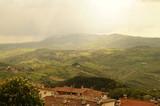 Ausblick in die Landschaft um San Marino / Italien