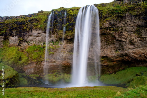 Seljalandsfoss waterfall in Iceland - 145146724