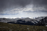 Clouds over Front Range in Colorado Rockies