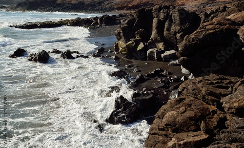 Canvas Canarische Eilanden Wild beaches of sand and rocks, Aguimes coast, Gran canaria, Canary islands
