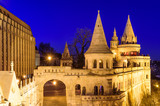 Fisherman Bastion, a popular tourist attraction in Hungary, night view, Budapest, Hungary