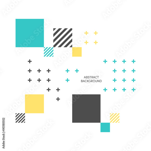 Abstract colorful geometric isometric background vector illustration