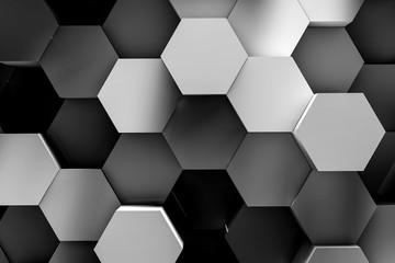 hexagon backgrounds 3d illustration © zhu difeng