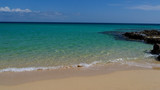Turquoise water like paradise of Corralejo on the island of Fuerteventura