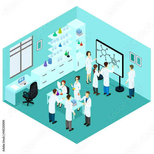 Isometric Biological Science Laboratory Template | Buy Photos | AP ...