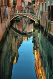 2016, APRIL, 18, Italy, Venezia, Gondolas on canal in Venice, 2016, APRIL, 18, Italy, Venezia