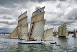 France, Duarnenez, 21, July, 2016, sailboats in the bay at the festival of sailing, France, Duarnenez, 21, July, 2016