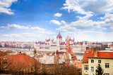 View of Danube river and Parliament building in Hungary