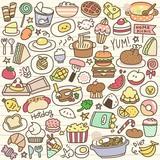 Set of Cute Food Doodle