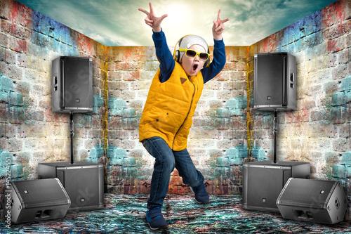 Boy dancing Hip-Hop  Poster