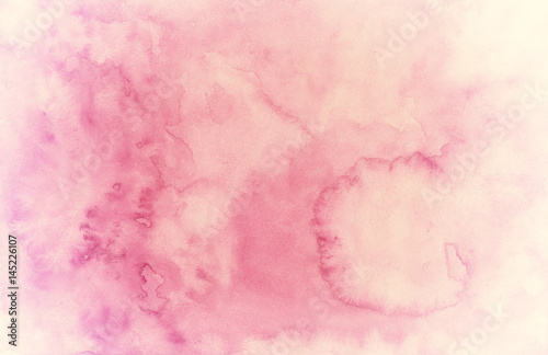 Hand Painted Huge Watercolor Background with Stains - Vintage pink - 145226107