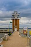 Aussichtsturm,Leuchtturm, Plau am See, Hafeneinfahrt