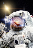 Astronaut in open space (Elements of this image furnished by NASA)