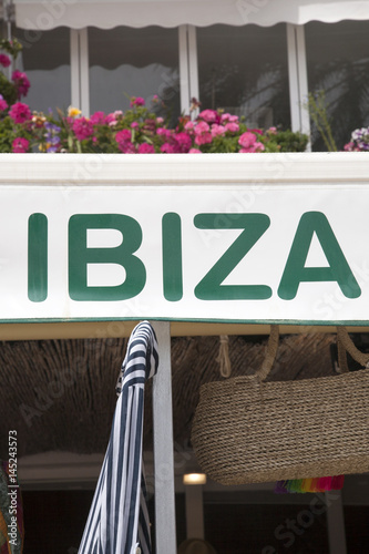 Ibiza Sign, Spain