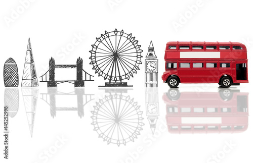 London tourist landmarks Poster