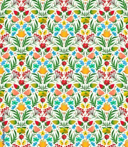 Boho Flower Pattern - 145255120