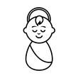 jesuschrist little baby icon vector illustration design