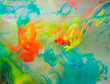 Abstraction from multi-colored ink, paint in water - 145263580