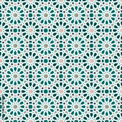 Fototapeta Traditional Arabic geometric seamless pattern.