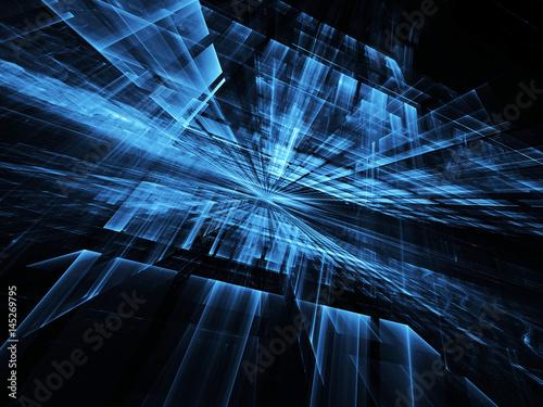 Abstract technology illustration, 3D illustration - 145269795