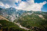 2016, Albania, Llogara National Park, Paraglider over Llogara Pass. Vlore county